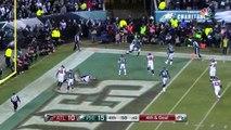 Atlanta Falcons quarterback Matt Ryan's fourth down pass goes through wide receiver Julio Jones hands