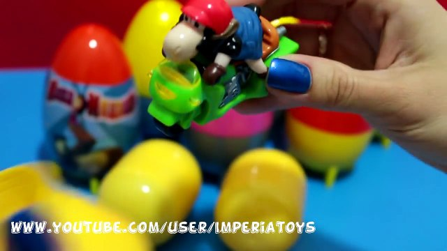 Many Surprise Eggs Masha i Medved Hello Kitty Disney Pixar Cars 2 The Smurfs