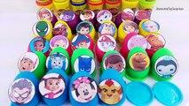 30 Play-Doh Surprise Eggs Nick Disney Junior Toys PJ Masks Umizoomi Paw Patrol Mickey Mouse