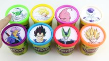 Play Doh Learning Colors with Dragon Ball Z Charers - Goku, Gohan, Vegeta, Frieza Surprise Toys