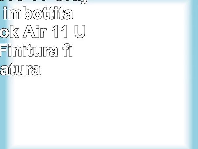 Mamba Sleeve 11 Gray  Custodia imbottita per MacBook Air 11  Ultrabook Finitura fibre