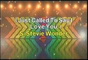 Stevie Wonder I Just Called To Say I Love You Karaoke Version