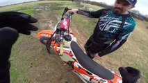 Noobs First Time Riding Dirt Bikes (yikes)