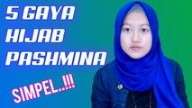 5 Tutorial Hijab Pashmina Simpel Banget Plus Tips Jadiin Segi Empat #NMY Hijab Tutorials