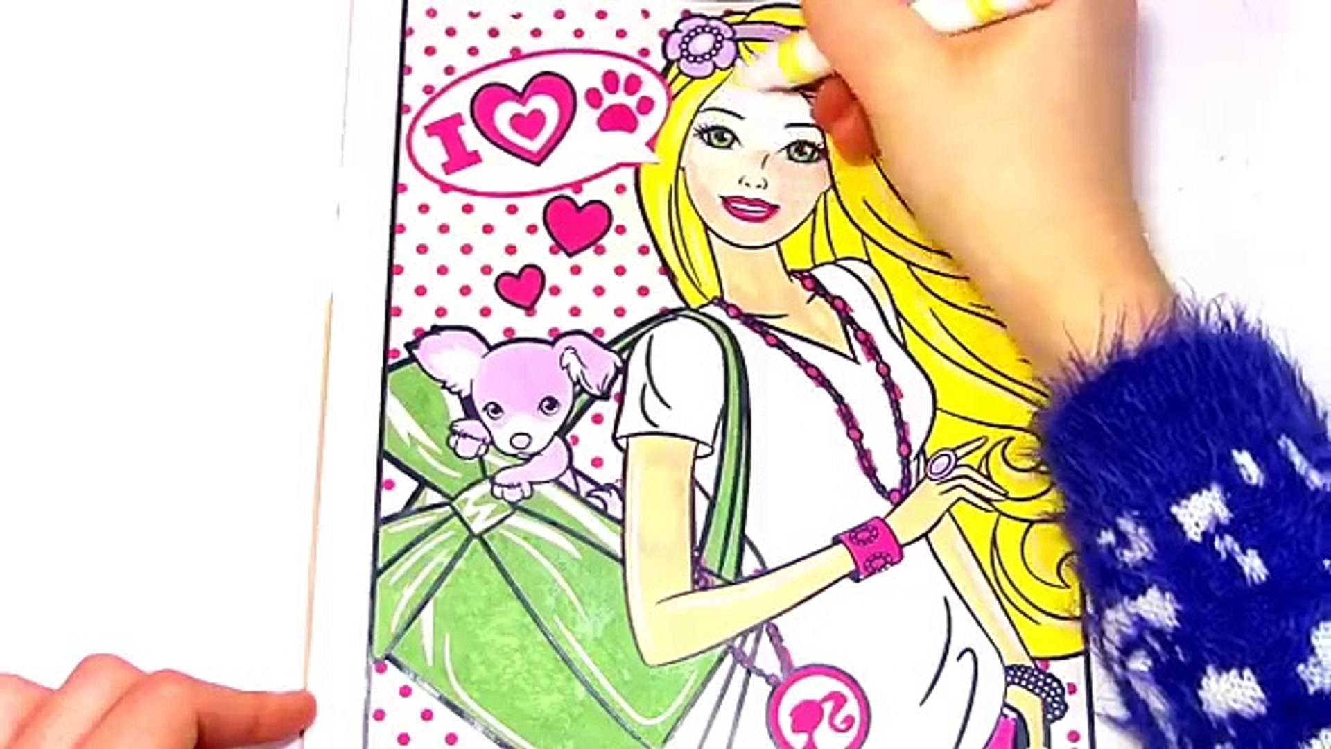 BARBIE COMPILATION COLOR WONDER LEARN COLORS FOR KIDS BABY COLORIAGE