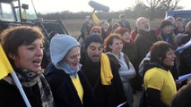 Manifestation paysanne à Régusse