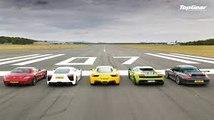 Acura NSX vs Aston Martin V12 vs Audi R8 V10 Plus vs BMW M4 GTS vs Chevrolet Camaro vs Dodge Viper vs Jaguar F-Type SVR vs McLaren 570S vsMercedes-AMG GT S vsNissan GT-R vs Porsche 911 Carrera S