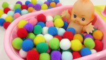 Learn Numbers Counting Colors Wad Of Cotton and Slime Baby Doll Bath Time Surprise Slime Toys