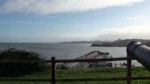 Paisaje y tiempo en la costa de Candás, Asturias 4 de enero