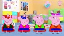 Peppa Pig George Skeybord Rocket Falling Funny Story Finger Family