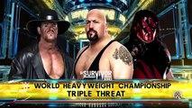 WWE-2K16 -Undertaker vs Big Show vs Kane :WWE World Heavyweight Championship Match 2016