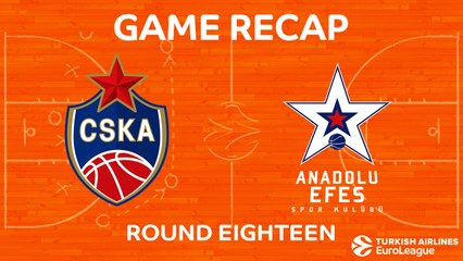 EuroLeague 2017-18 Highlights Regular Season Round 18 video: CSKA 110-79 Efes