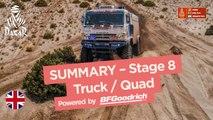 Summary - Truck/Quad - Stage 8 (Uyuni / Tupiza) - Dakar 2018
