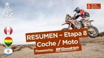Resumen - Coche/Moto - Etapa 8 (Uyuni / Tupiza) - Dakar 2018