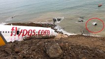 Trabzon'da Pistten Çıkan Uçağın Pilotu: Uçak Bir Anda Hızlandı, Deniz Yönünde Aşağı Düştü