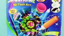 2004 Play Doh Creations 3D Flash Art Toy- Make Spin Art That Glows!