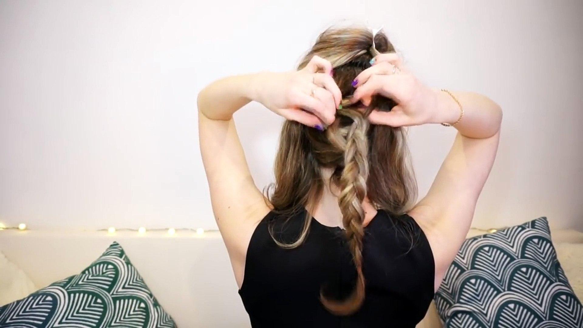 Очень простая вечерняя прическа самой себе ♥ Прическа на праздник ♥ Evening Hairstyle tutorial