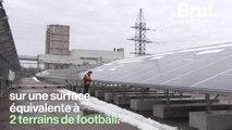 Une centrale solaire à Tchernobyl