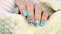 Красивый маникюр Лиса | Beautiful Fox in a scarf nail art tutorial