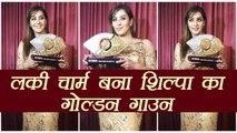 Shilpa Shinde DAZZLES in Golden Gown at Bigg Boss finale, गोल्डन गाउन में चमक उठी शिल्पा | Boldsky