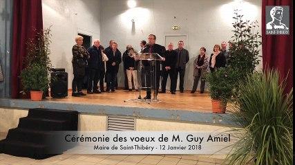 Cérémonie des voeux 2018 de Guy Amiel, Maire de Saint-Thibery