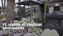 PHOTOS. Laeticia Hallyday a fait livrer une magnifique gerbe de fleurs sur la tombe de France Gall