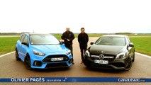 Comparatif vidéo - Ford Focus RS Pack Performance vs Mercedes A45 AMG : une lettre qui fait la différence ?