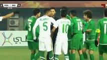 ملخص مباراة العراق والسعوديه{شاشه كامله} تصفيات كأس اسيا تحت 23 سنة في الصين
