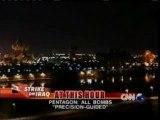 Guerre en Irak: CNN - 23 mars 2003: missiles sur Bagdad