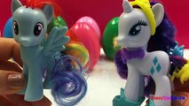 6 Surprise Eggs My Little Pony Friendship is Magic Ponys Amigas para siempre like Kinder Eggs