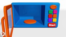 Learn Colors With  Surprise Eggs Ice Cream Microwave Oven and Blender Toy Appliance-Colours f