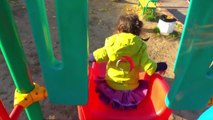 Funny babies playtime with ABC Song in Outdoor Playground for kids & Baby Nursery rhymes Son