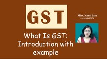 GST . What is GST. Goods and Service Tax. Introduction and example