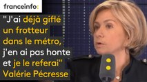 """""""J'ai déjà giflé un frotteur dans le métro, j'en ai pas honte et je le referai"""", dit Valérie Pécresse"""