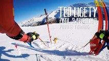 Entraînement du skieur pro Ted Ligety filmé à la GoPro... ça fonce !