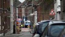 Nimy Une fuite de gaz rue Mouzin. Quartier bouclé.Vidéo Eric GHislain
