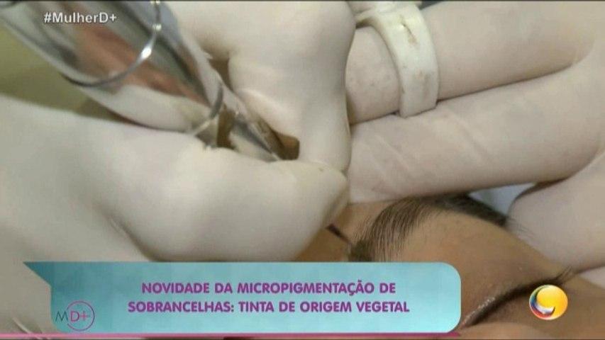 Mulher Demais - Novidade da micropigmentação de sobrancelhas - Tinta de origem vegetal