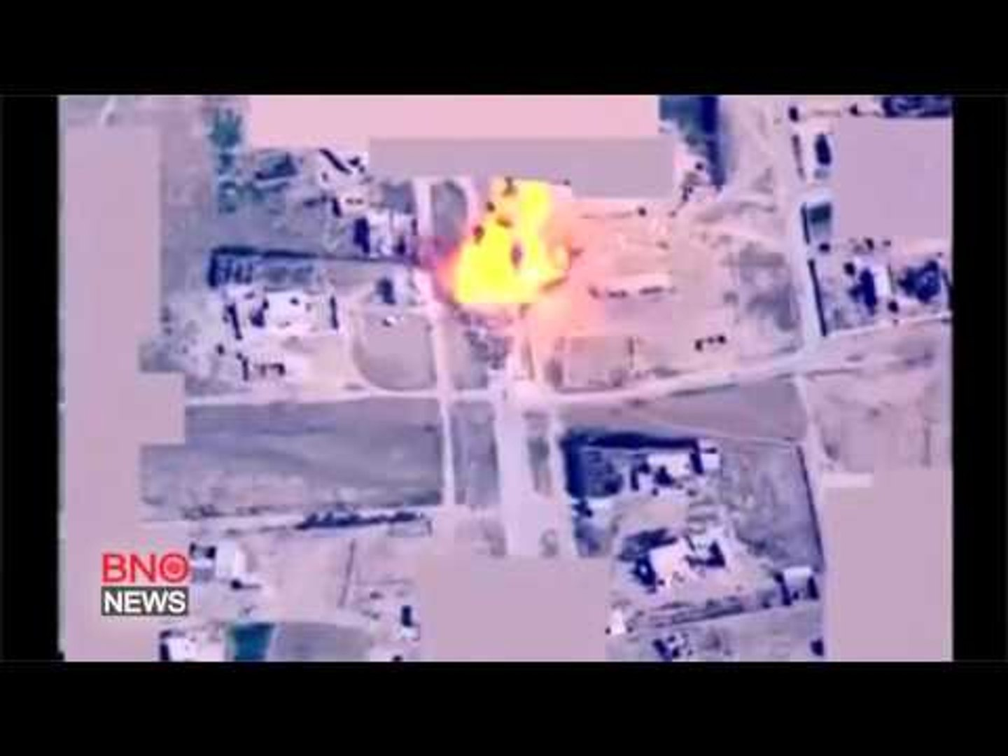 RAW: Video purports to show coalition air strike destroying ISIS vehicle