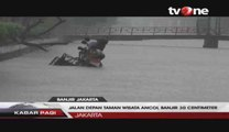 Hujan Deras dan Angin Kencang Akibatkan Banjir di Jakarta