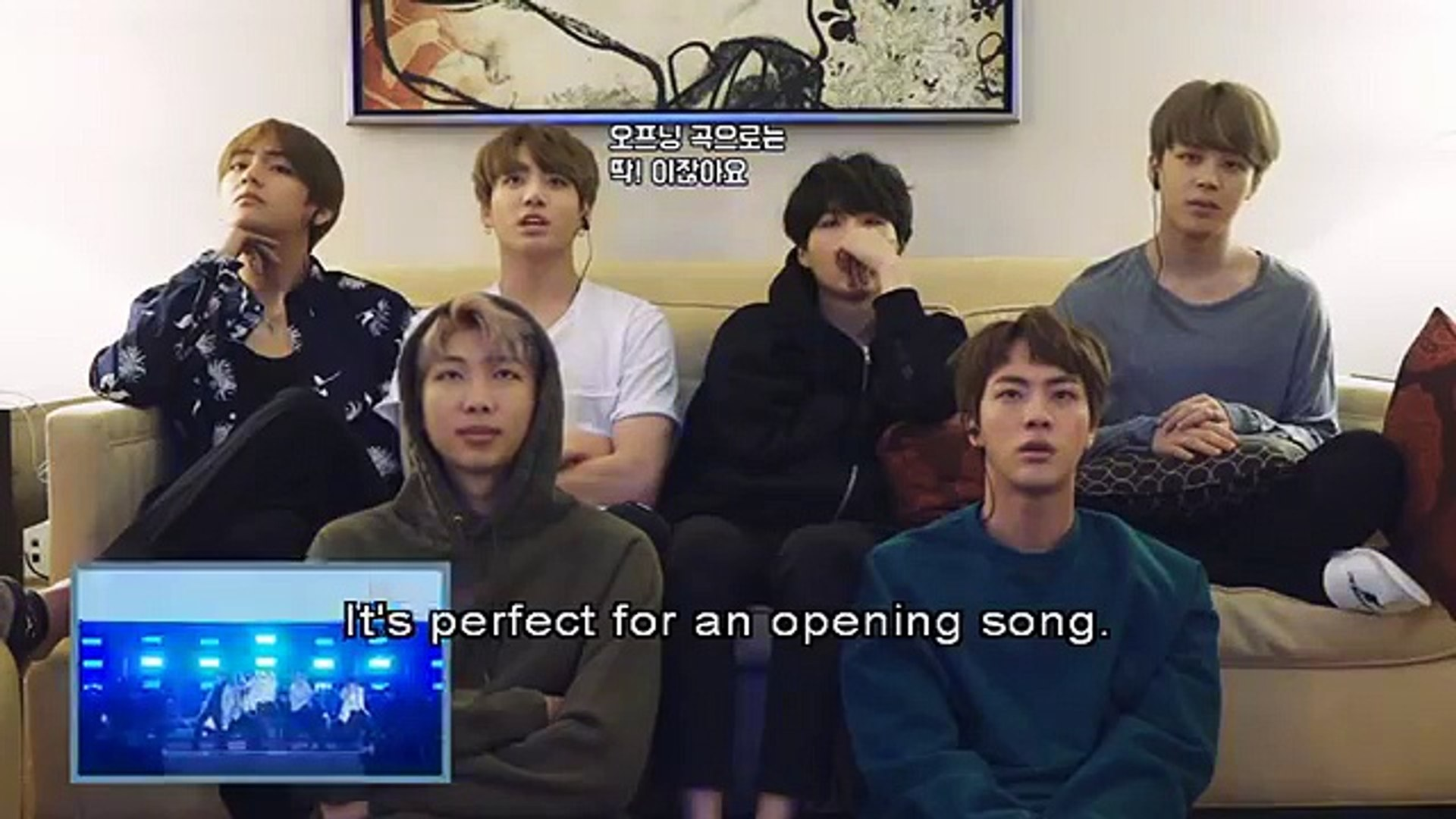 [ENG SUB] BTS Reaction for Wings Concert The Wings Tour DVD 2017