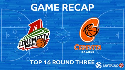 7Days EuroCup Highlights Top 16, Round 3: Lokomotiv 69-64 Cedevita