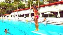 Carla Underwater - Diving and swimming underwater in Huge pool