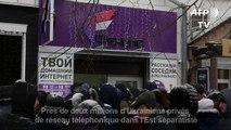 Deux millions d'Ukrainiens privés de réseau mobile dans l'Est