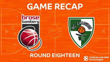 EuroLeague 2017-18 Highlights Regular Season Round 18 video: Bamberg 93-86 Zalgiris