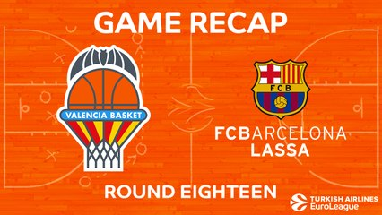 EuroLeague 2017-18 Highlights Regular Season Round 18 video: Valencia 81-76 Barcelona