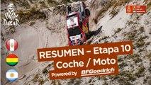 Resumen - Coche/Moto - Etapa 10 (Salta / Belén) - Dakar 2018