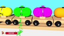 Learn Colors With Balloons Balls Trains Balls for Children - Street Vehicles Thomas Train For