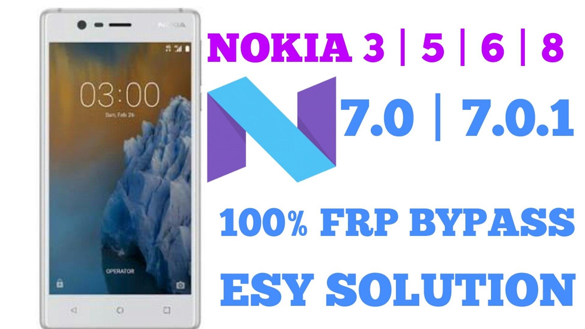 ALL NOKIA FRP 7 0 1 BYPASS 100% || ALL NOUGAT FRP BYPASS100%