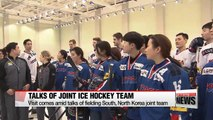 """S. Korean President Moon visits Olympic squad """"Great chance for improving inter-Korean ties"""""""