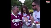 Ces supporters de foot pensent embrasser une jeune femme sexy mais vont vite déchanter (Vidéo)
